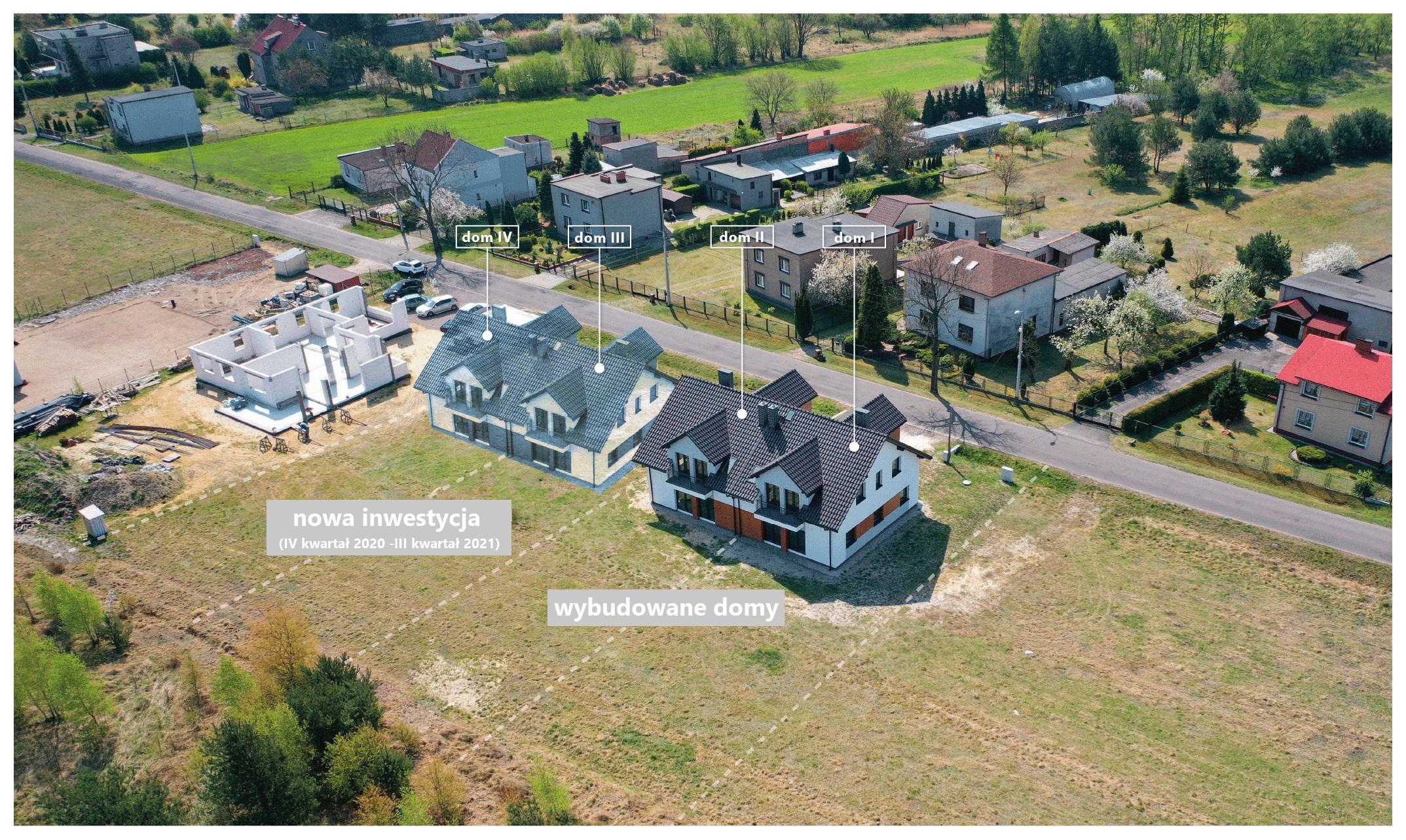 Nowe domy na sprzedaż- zakończenie budowy III kwartał 2021